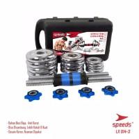 Dumbell Barbel Set 15Kg Tiang Angkat Beban Besi Stainless 15 Kg speeds