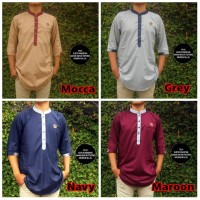 Baju Koko Putih/ Baju Gamis Pria / Kurta Pakistan Bahan Toyobo Premium
