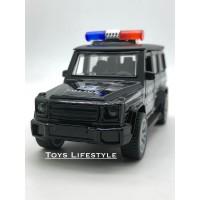 Toy Addict Diecast - Mercedes Benz G Class Police Skala 1:32 (Hitam)