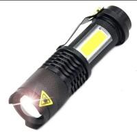 senter LED 3800 lumens pocket waterproof /senter police saku anti air
