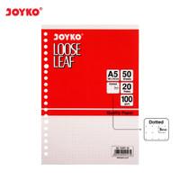 Loose Leaf Isi Kertas File Binder Joyko A5-100DT 50 Lembar Dot Titik