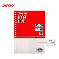 Loose Leaf Isi Kertas File Binder JOYKO A5-100GR 50 Lembar Grid Kotak