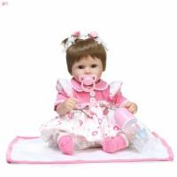 Npk 16 Inch Newborn Doll Set Silicone Lifelike Cute Dolls For Kid