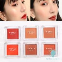 Fenli Palet Blush On Glitter Kosmetik Wajah Make Up Riasan Asli