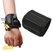 Quu Gelang Magnetik Portable Bahan Polyester untuk Alat Pertukangan TG