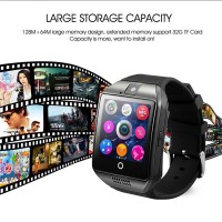 Q18 Bluetooth Smart Watch Support SIM Card Camera for Iphone Samsung