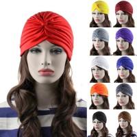 Topi Turban Model Lipit Stretch Gaya Indian untuk Wanita