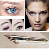 36 # Eyeliner Pensil Warna Hitam / Putih Tahan Lama