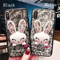 Casing Lace Rabbit Case Samsung Galaxy S6 S6 Edge S7 S7 Edge S8 S8