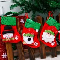 Hiasan Kaos Kaki Gantung untuk Dekorasi Pesta Natal/Tahun Baru