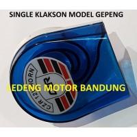 New !! Single Klakson Gepeng Suara Keras Tone Stereo Horn 12v Mobil Mo