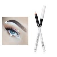 1 / 2Pcs Eyeliner Pensil Warna Putih Lembut Tahan Lama Anti Air