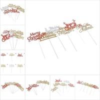 Faid 5Pcs Topper Kue Desain Merry Christmas untuk Dekorasi Kue Pesta