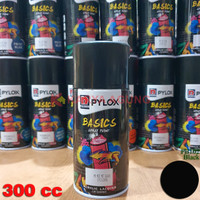 Spray Paint PYLOX BASICS / Cat Semprot Pilox Basic Nippon Paint 300cc - 102 Black