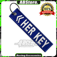 Gantungan Kunci Keychain HER & HIS KEY Premium