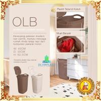 Laundry Basket Keranjang Cucian motif Anyaman Olymplast OLB - CREAM