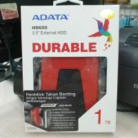 HARDISK HARDDISK HDD EXTERNAL EKSTERNAL ADATA HD650 1TB ANTI SHOCK