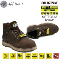 Sepatu Pria / Sepatu Safety Jogger Meteor Brown S3 - Joger Meteor