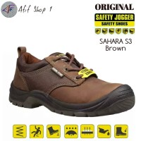 Sepatu Safety Jogger Sahara S3 Brown Original - Safety Shoes Jogger