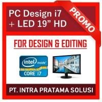 "PC i7 - Design / Gaming (i7-3770 + RAM 16GB + Nvidia GT730 + LED 19"")"