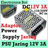 [EBS] Power Supply Switching 12V 3A DC PSU 40W Jaring 110/220 AC CCTV
