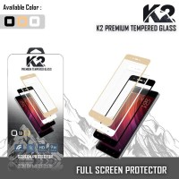 Tempered Glass WARNA K2 PREMIUM FULL LAYAR SAMSUNG A6 PLUS 2018,A8