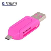 Card Reader 2 Slot OTG mini 2in1 for MicroSD / SD OTG