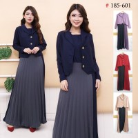 Maxi Plisket Blazer Yumi 185/Dress Plisket Bangkok/gamis fashion