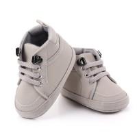 Sepatu Anak Bayi Laki-Laki Import Prewalker Shoes Warna Abu-Abu