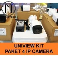 PAKET UNIVIEW 4 IP CAM / CCTV UNV KIT NVR POE 4CH 4 KAMERA 2MP 1080P