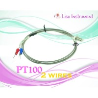 PT100 Stainless Steel Temperature Thermocouple Sensor w/ 2 Wires
