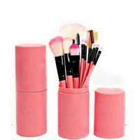 WS Kuas Make Up Isi 12 Pcs Tabung Make Up Brush Tabung