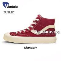 Sepatu Ventela Public High Maroon / Ventela Public High Maroon