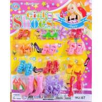 Mainan anak perlengkapan sepatu barbie mini