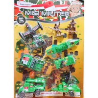 Mainan Anak Kendaraan Misi Militer 8in1 Mobil Pesawat Kapal dll