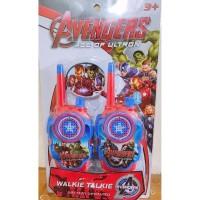 Mainan Anak Alat Komunikasi Radio Dua Arah Walkie Talkie Versi Avenger