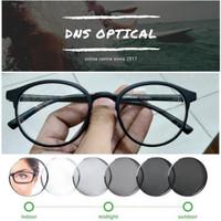 kacamata oval minus/plus/silinder pria lensa photocromic