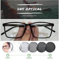 kacamata kotak besar minus/plus/silinder pria lensa photocromic