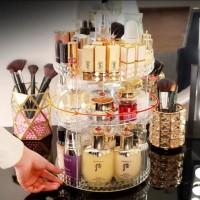Rak Kosmetik Putar 360 Rak Acrylic Aksesoris Makeup Tas Mua Korea Tool