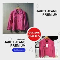 Jaket Jeans Wanita Denim Pink