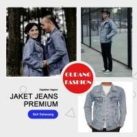 Jaket Jeans Sandwash / Jaket Denim Sandwash / Jaket Sandwash Pria abu