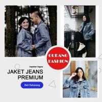 Jaket Levis Jeans Oversize Sandwash Cewek / Jaket Jeans Denim Oversize