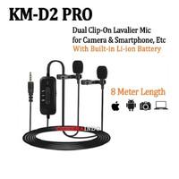MIC MAMEN KM D2 Clip On Lavalier Mic Microphone for Camera DSLR VLOG