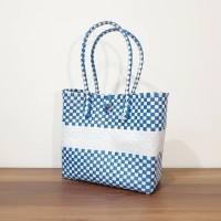Kiarra Bag SMALL - Blue Series, Tas Anyam Plastik, Tas Anyaman Parcel