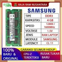 RAM LAPTOP SAMSUNG DDR3 4GB 12800 1600MHz ORI RAM SODIMM 1.5v 4GB