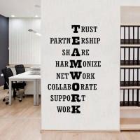 Wall Sticker/Stiker Dinding Kreatif Team Work 20 - Putih
