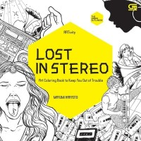 Art Therapy Anti Stress Adult Coloring Book Lost in Stereo