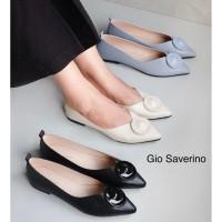Flat Shoes Wanita Gio Saverino VEGAS Sepatu Flat Wanita - BLUE, 36