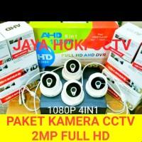 PAKET KAMERA CCTV 4 CHANNELL 4 KAMERA FULL HD 1080P 4IN1 2MP HDD 2TB