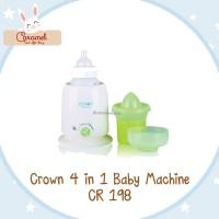 CROWN 4 IN 1 BABY MACHINE / PENGHANGAT SUSU DAN MAKANAN BAYI CR 198